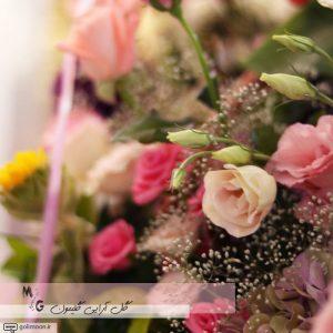 سبد گل طبیعی گهواره ای4