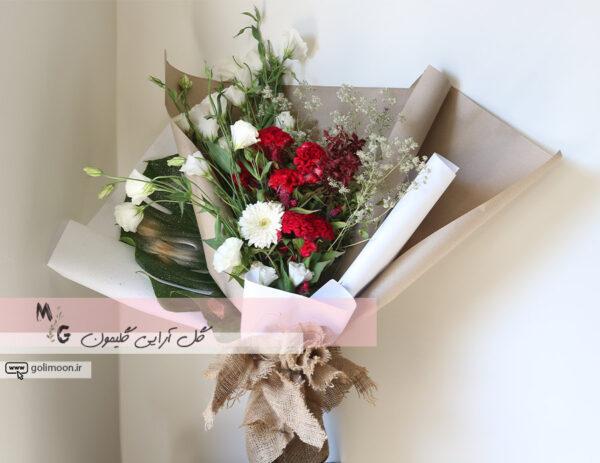 دسته گل هدیه لیسیانتوس1