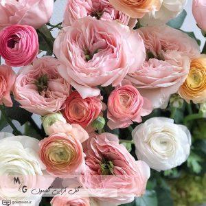 باکس گلدان سیمانی گل رز و آنمون3